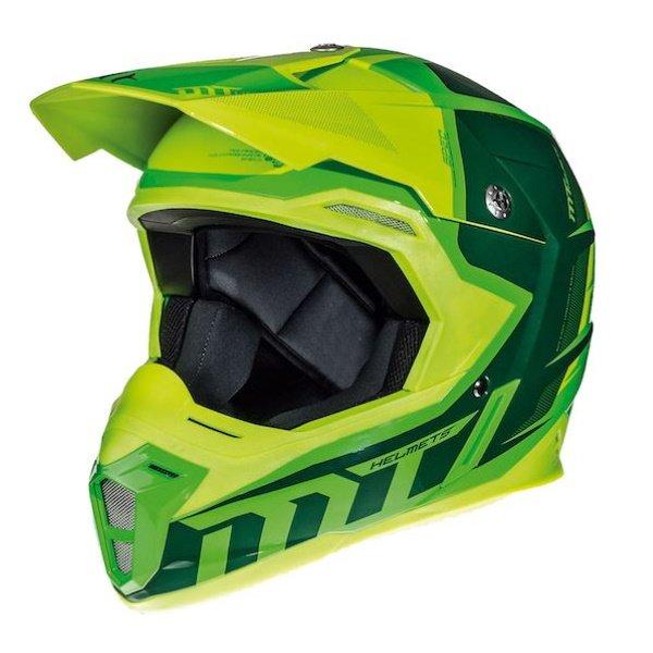Synchrony Spec Helmet Fluo Green Yellow MT Helmets Motocross