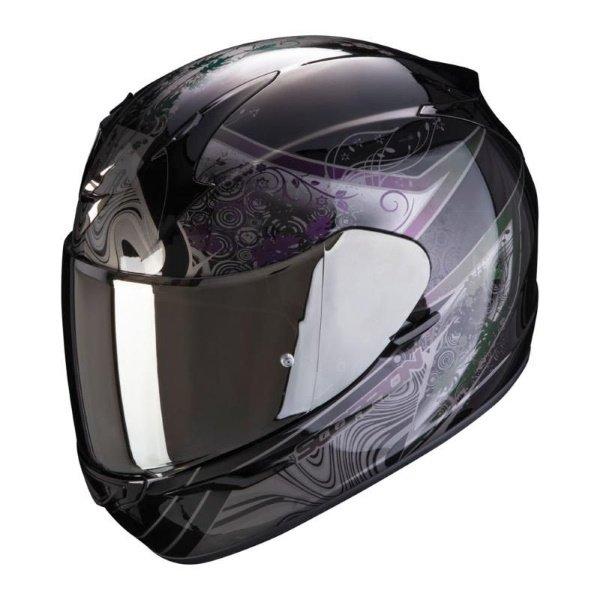 EXO 390 Clara Helmet Black Silver Ladies