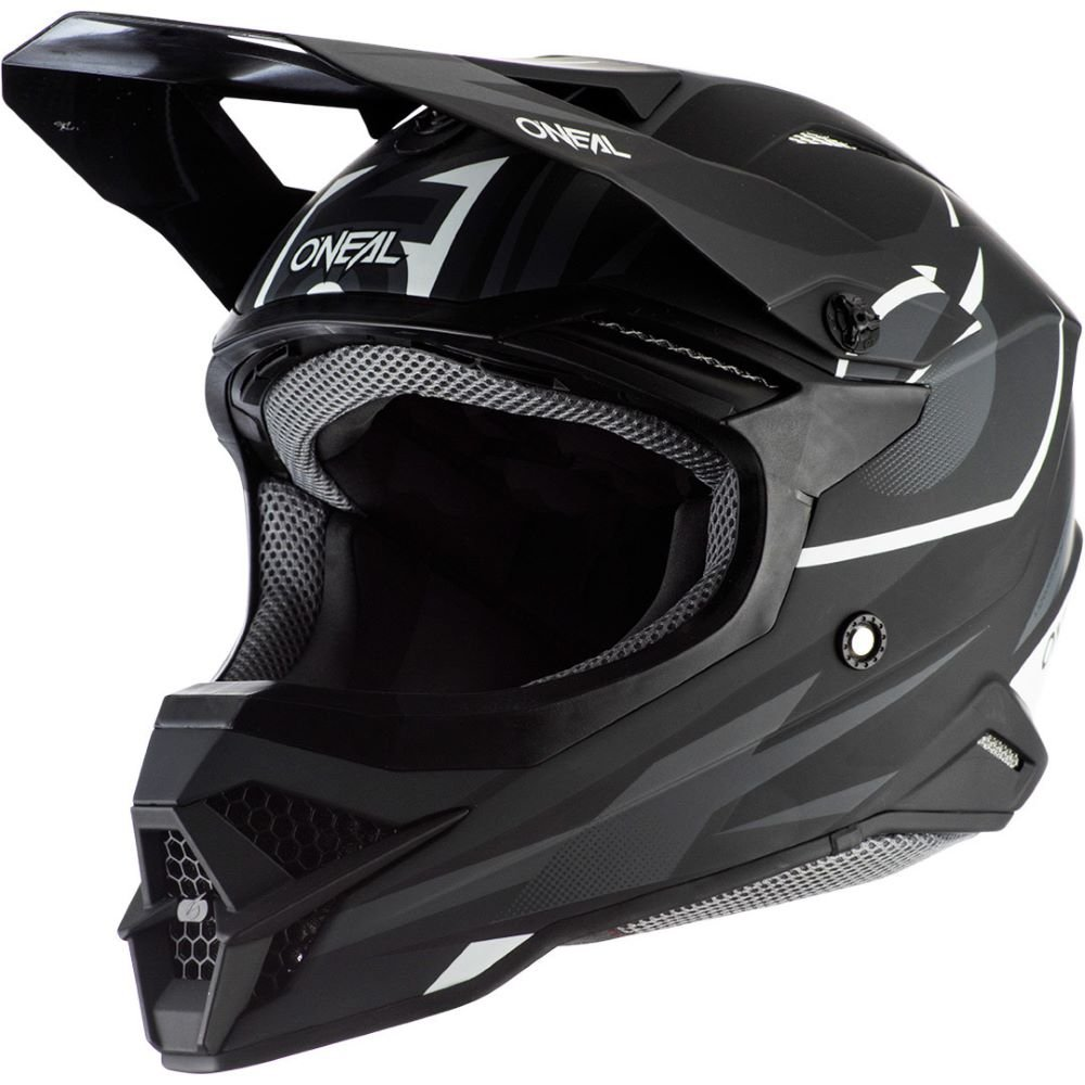 3SRS Riff 2 Helmet Black Grey Discount Motorcycle Gear