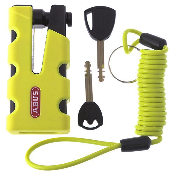 Abus Granit Sledg 77 Yellow Disc Lock and Reminder Cable
