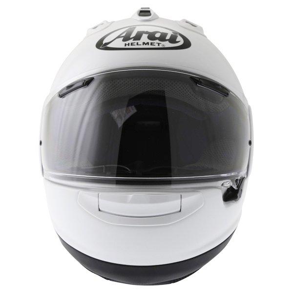Arai RX-7V Diamond White Full Face Motorcycle Helmet Front