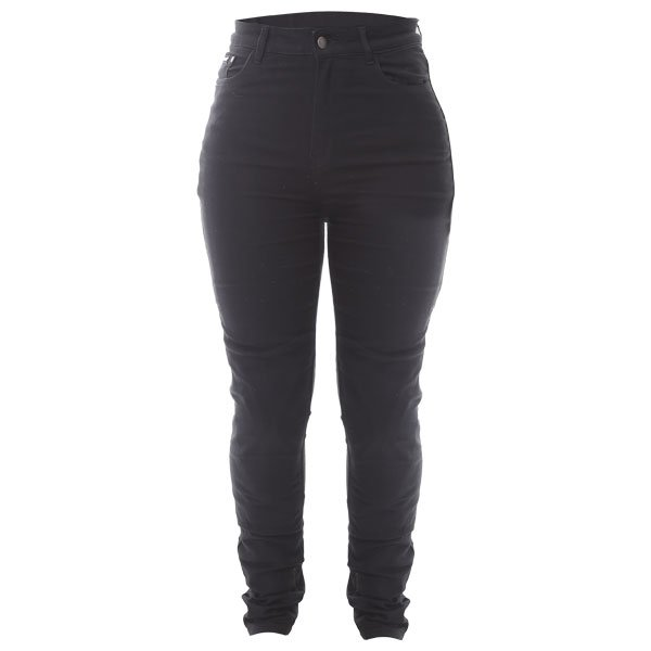 Elsa Skinny Covec Jeans Black Ladies Motorcycle Clothing, Boots And Gloves