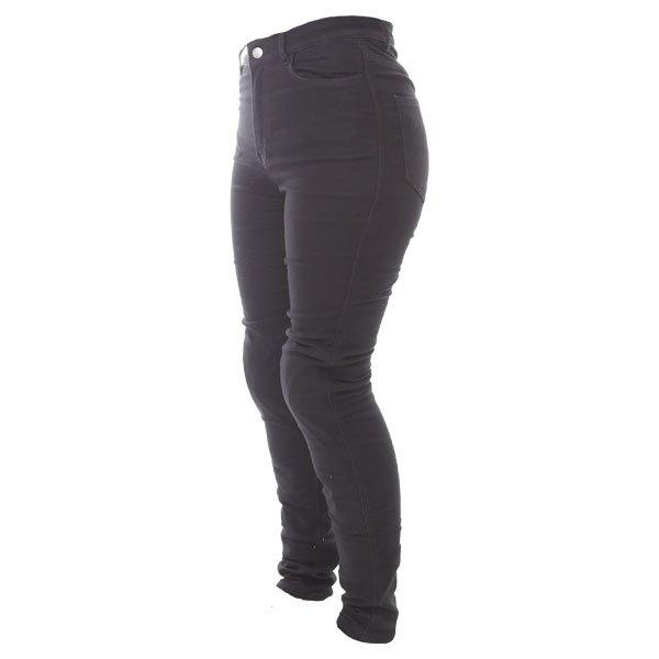 Frank Thomas Elsa Fury Skinny A CE Ladies Black Denim Motorcycle Jeans Side