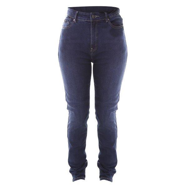 Frank Thomas Ariel Tactical Slim AA CE Ladies Blue Denim Motorcycle Jeans Front