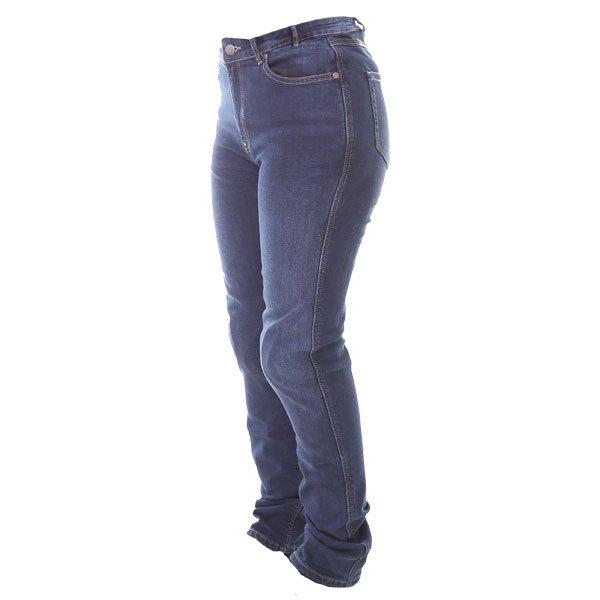 Frank Thomas Ariel Tactical Slim AA CE Ladies Blue Denim Motorcycle Jeans Side