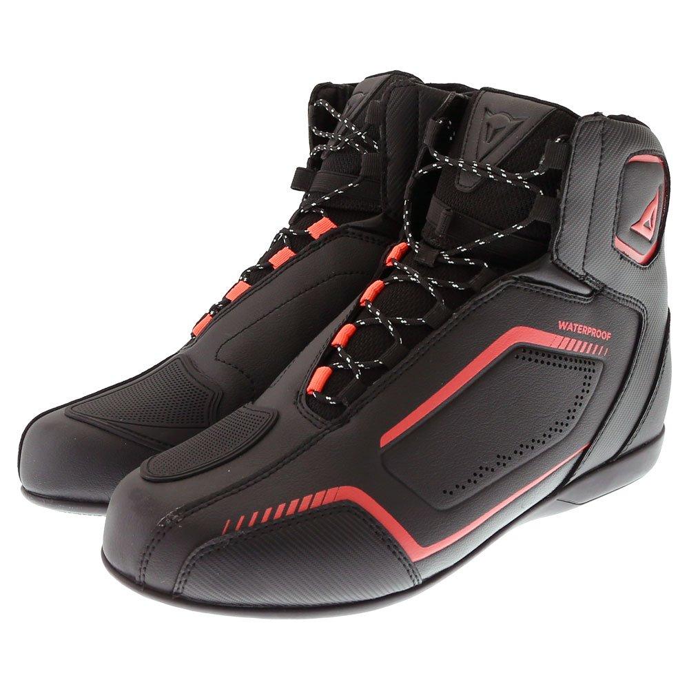 Raptors D-WP Shoes Black Black Fluo Red