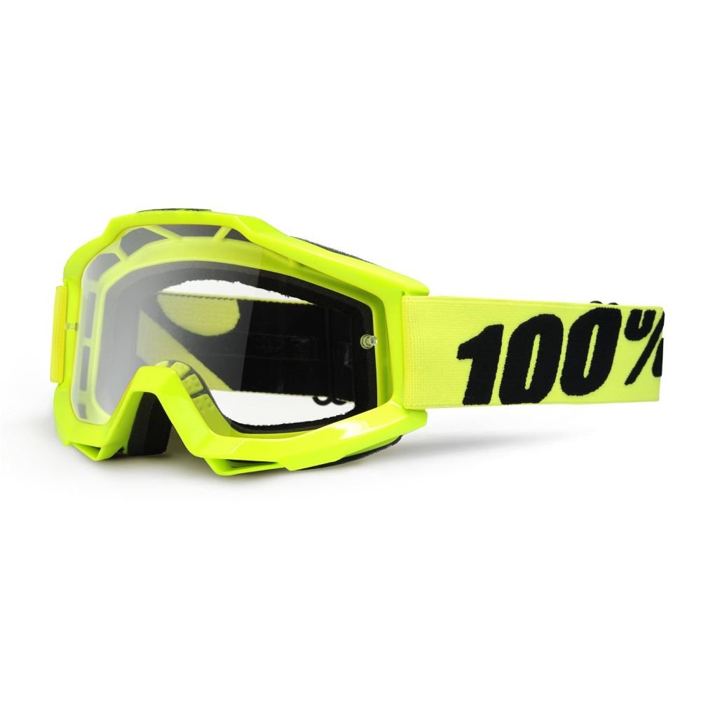 100% Accuri Goggle Fluo Yellow Clear Lens Clear Lens