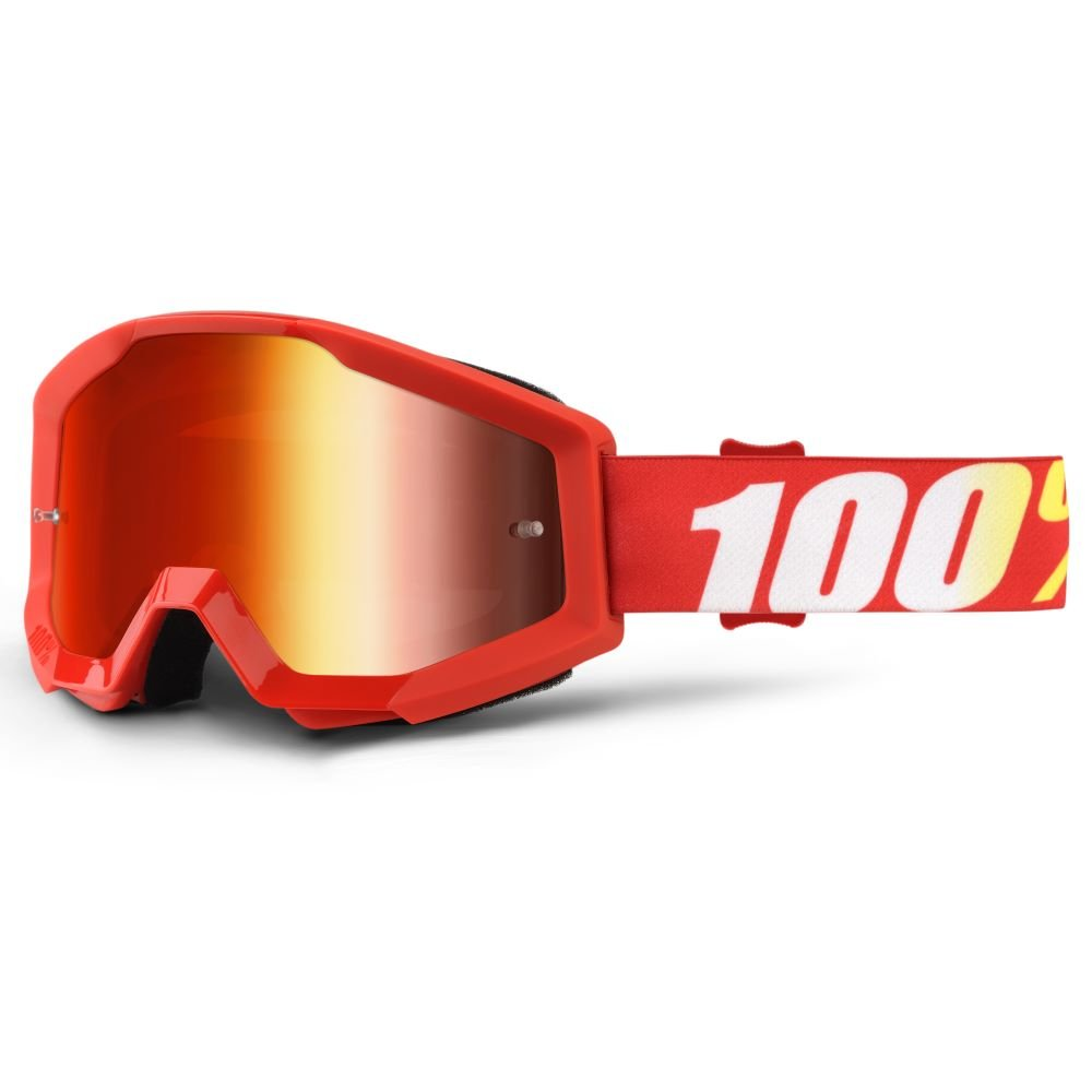 100% Strata Goggle Furnace Mirror Red Lens Mirror Red Lens