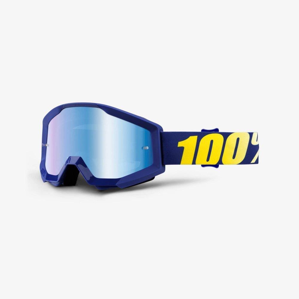 100% Strata Goggle Hope Mirror Blue Lens Mirror Blue Lens