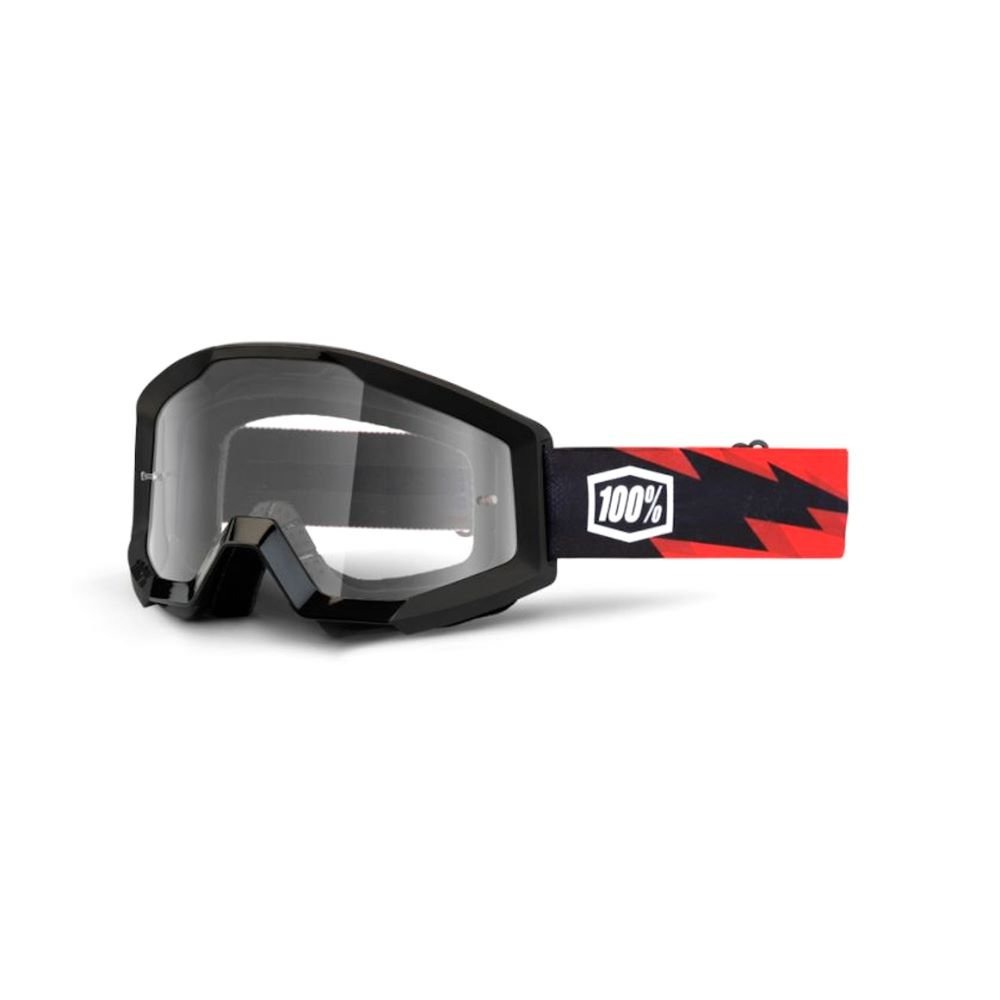 100% Strata Goggle Slash Clear Lens Clear Lens