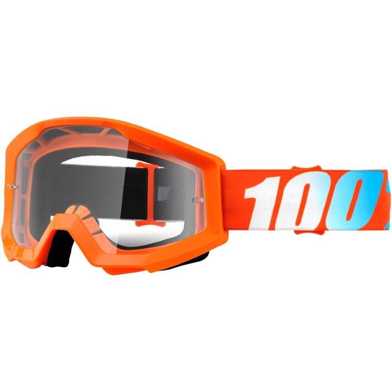 100% Strata Goggle Orange Clear Lens Clear Lens