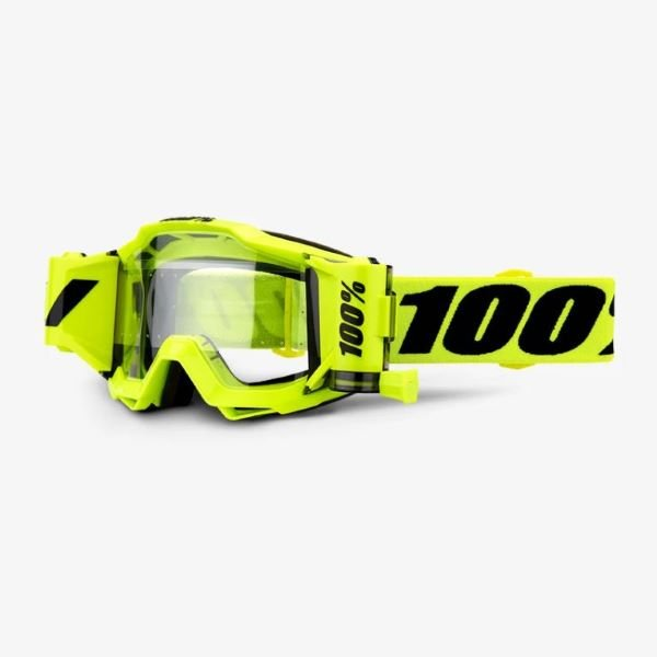 100% Accuri Forecast Goggle Fluo Ye Clear Lens Clear Lens