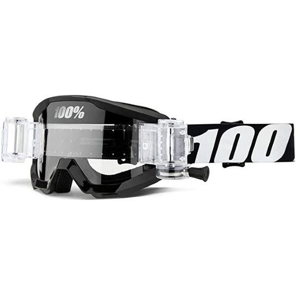 100% Strata JR Mud Goggle Outlaw Clear Lens Clear Lens