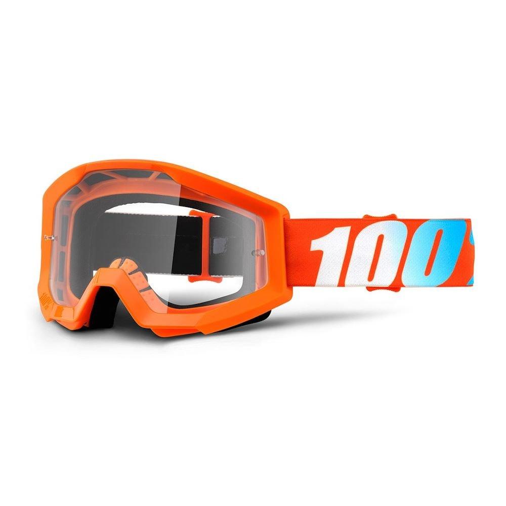 100% Strata JR Goggle Orange Clear Lens Clear Lens