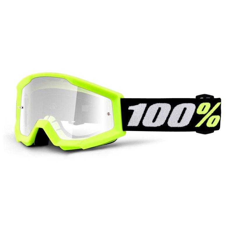 100% Strata Mini Goggle Yellow Clear Lens Clear Lens
