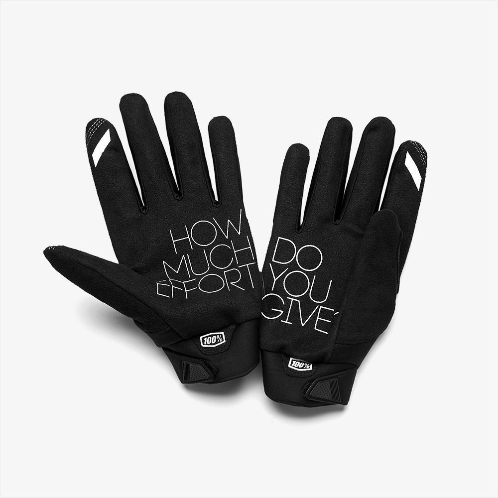 100% Brisker Gloves Fluo Orange Black Size: Mens - S