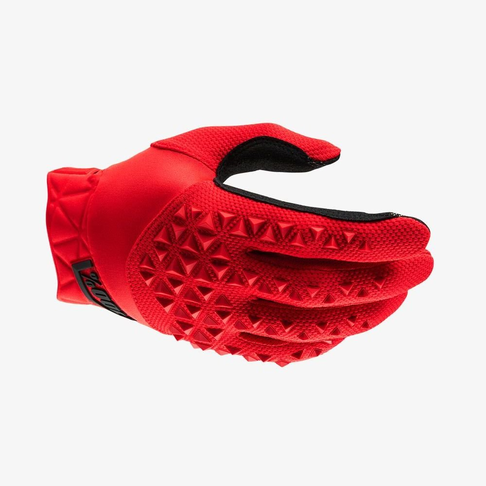 100% Airmatic Gloves Red Black Size: Mens - S