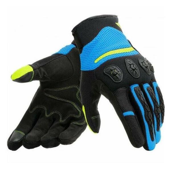 Dainese Aerox Unisex Gloves Black Fire Blue Fluo Yellow Black Fire Blue Fluo Yellow