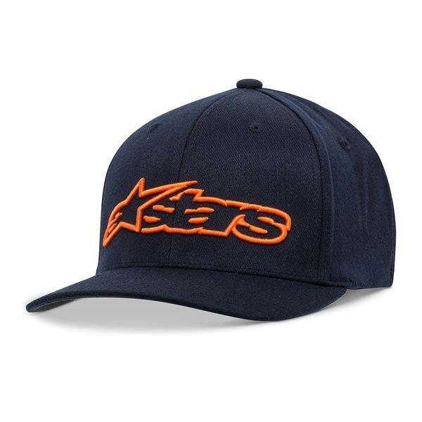Alpinestars Blaze Flexfit Hat Navy Orange Size: L-XL