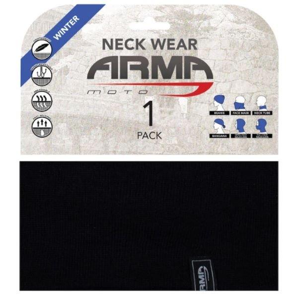 ARMR Knitted Neck Tube Black Black