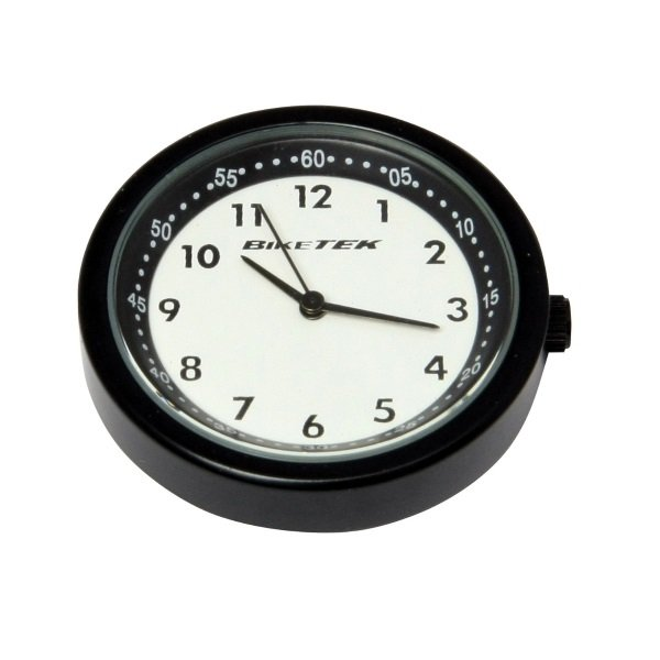 Bike It Motorcycle Mount Clock with Black and White Face