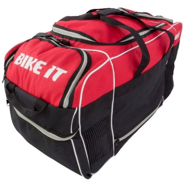 Bike It Medium Red Black Kit Bag Change Mat Folded Away