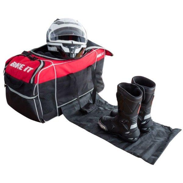 Bike It Medium Red Black Kit Bag Change Mat In Use