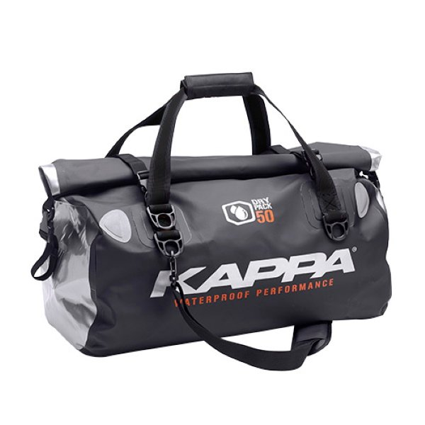 Waterproof Tail Bag - 50ltr Black Silver Roll Bags