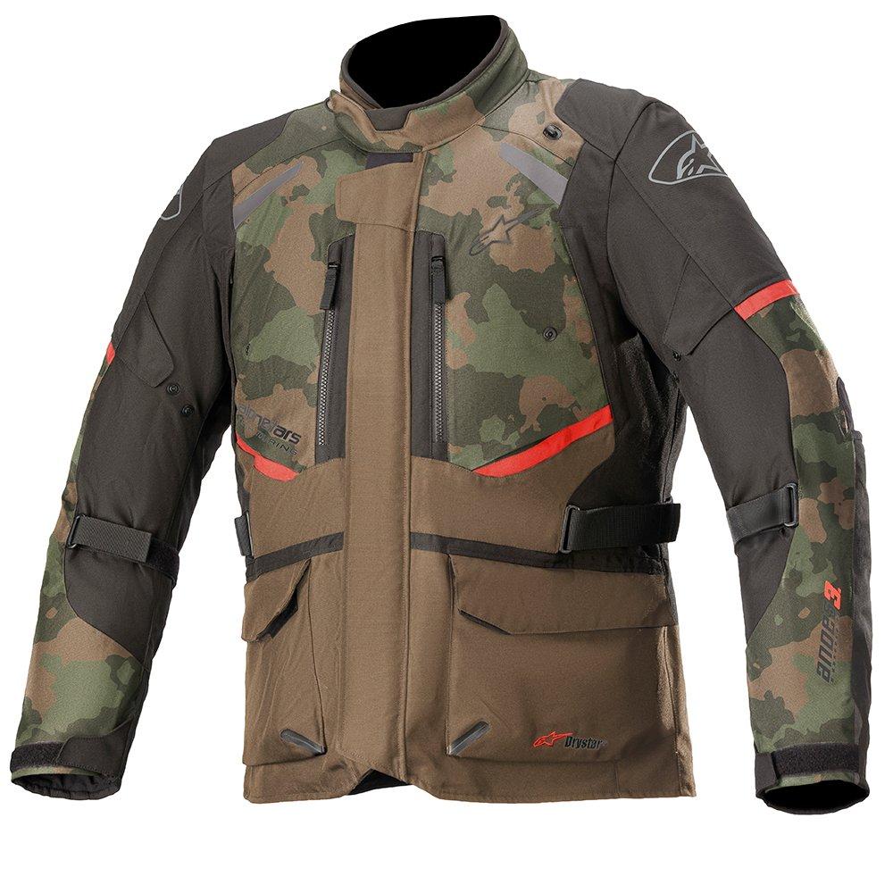 Alpinestars Andes V3 Drystar Jacket Dark Khaki Camo Size: Mens UK - S