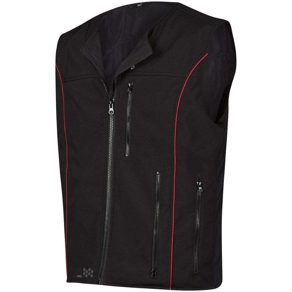 V501RP Premium Heated Vest Black Red Clothing