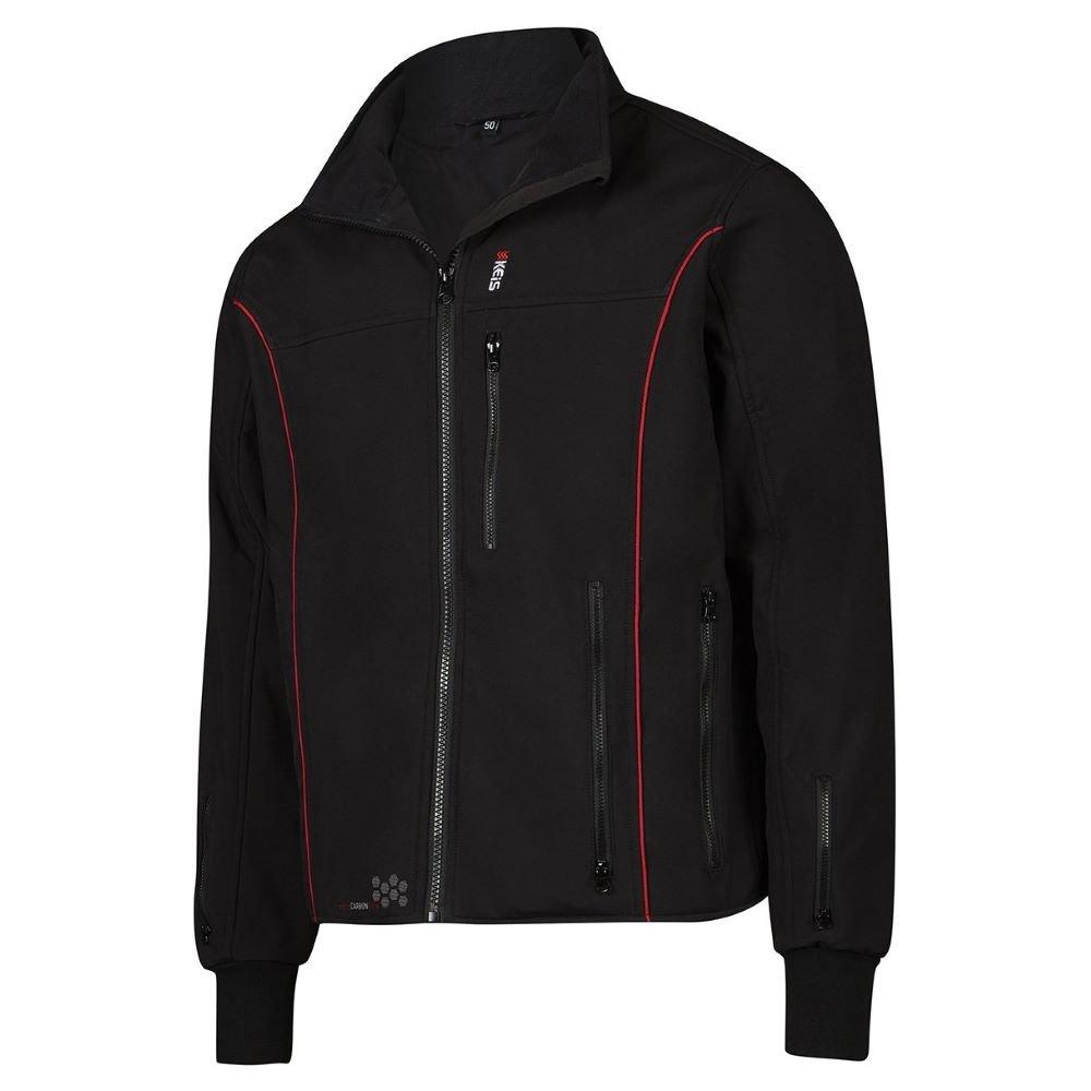J501RP Premium Heated Jacket Black Red Clothing