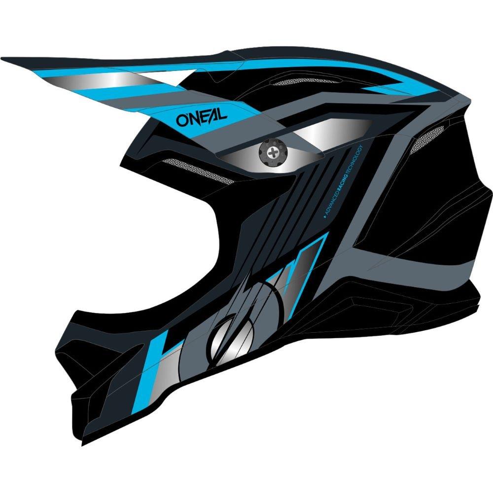 3SRS Vision Helmet Black Grey Blue Discount Motorcycle Gear