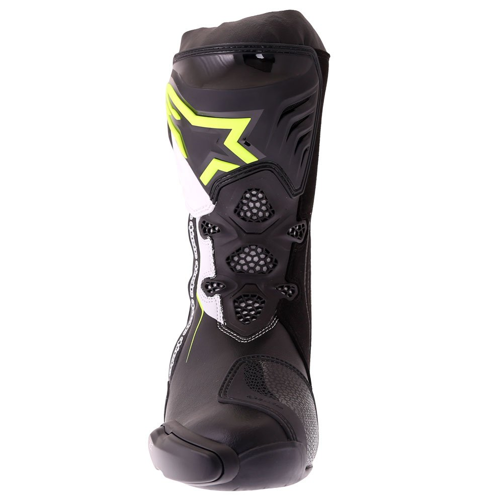 Alpinestars Supertech R Boots Black Yellow Fluo White Mens - 6
