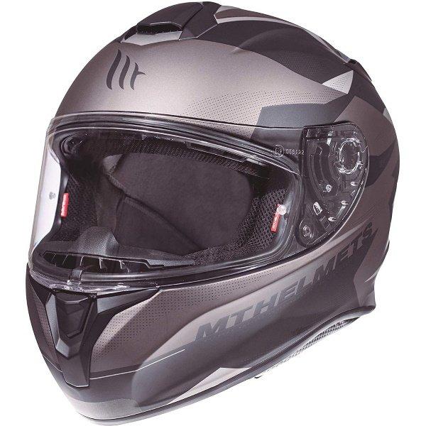 Targo Enjoy Helmet Black Grey Motorcycle Helmets