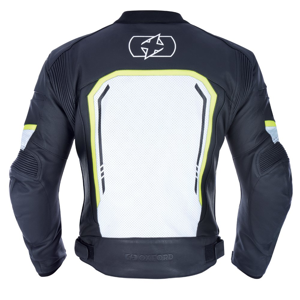 Oxford Products Strada MS Sports Jacket Black White Fluo Size: Mens UK - S