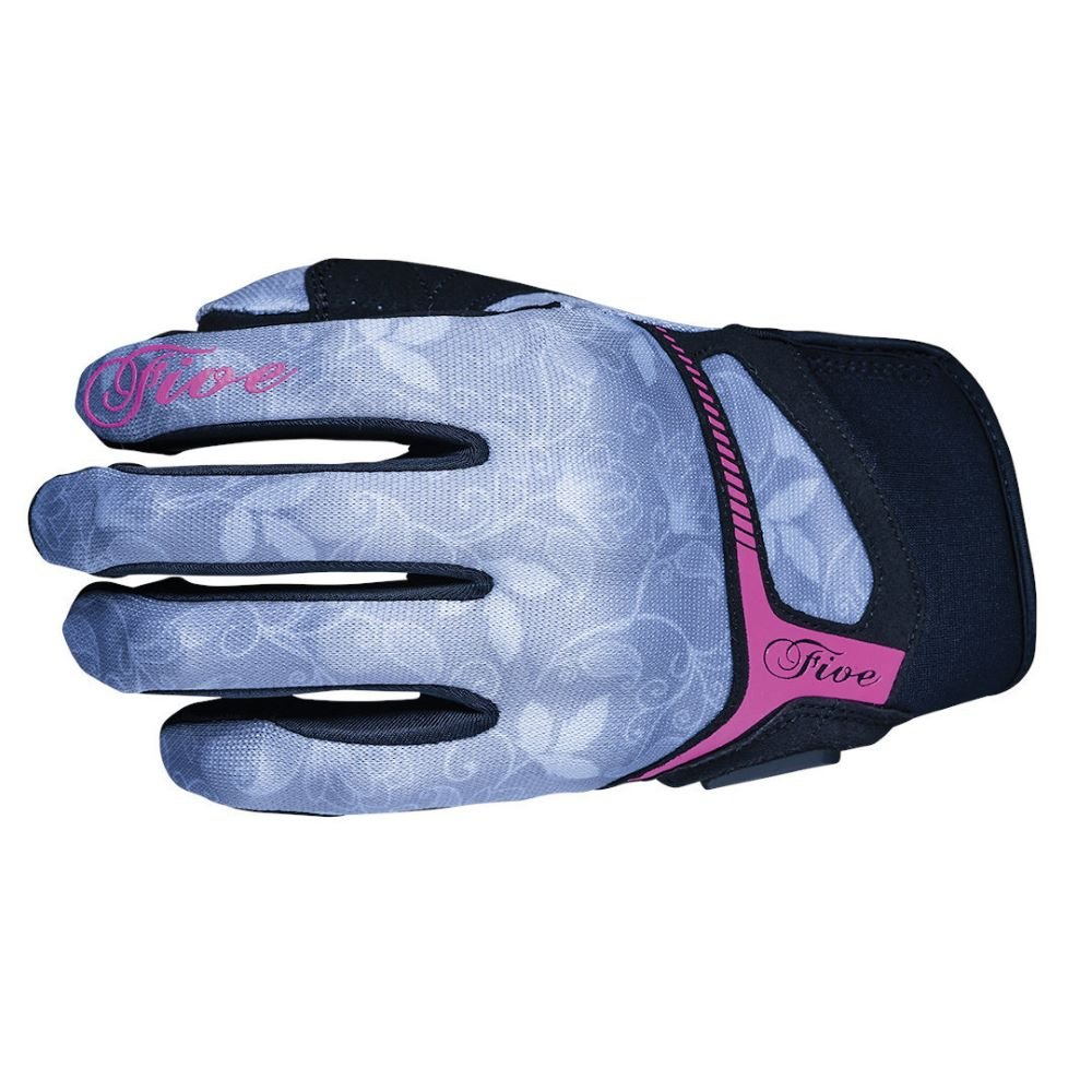 Five RS3 Replica Womens Gloves Flower Grey Fluo Pink Size: Ladies - L