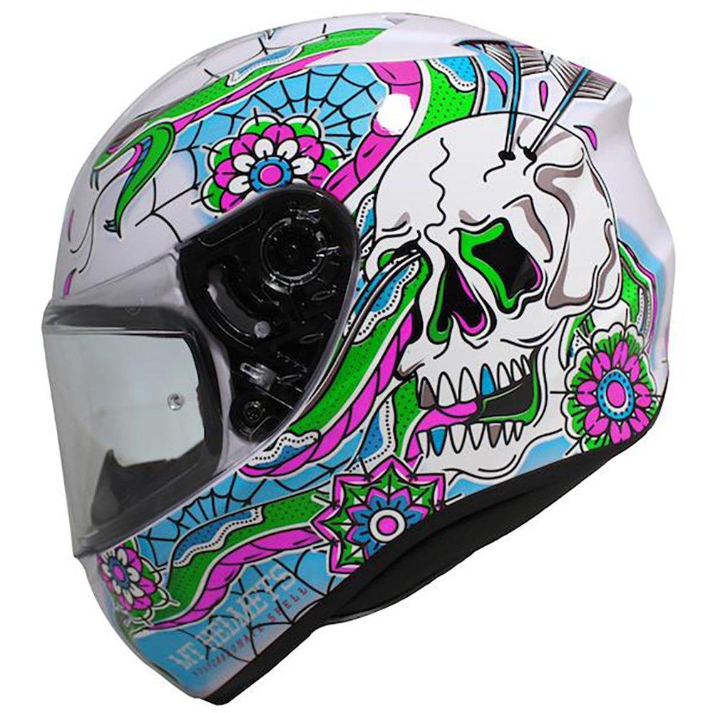 Targo Dagger Helmet White Blue Green Pink Motorcycle Helmets