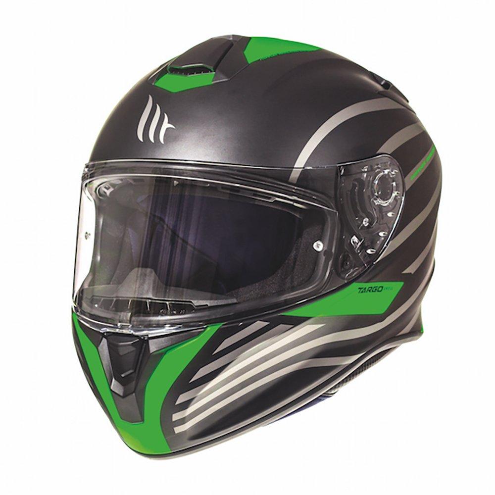 Targo Doppler Helmet Matt Black Green Motorcycle Helmets