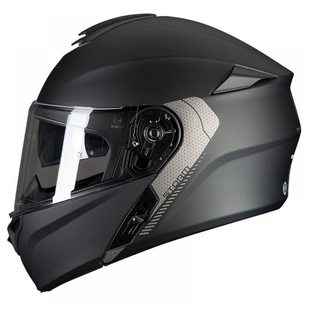 Storm Solid Helmet Matt Black Motorcycle Helmets