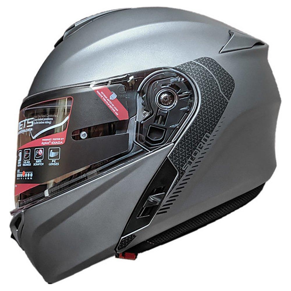 Storm Solid Helmet Matt Titanium Motorcycle Helmets