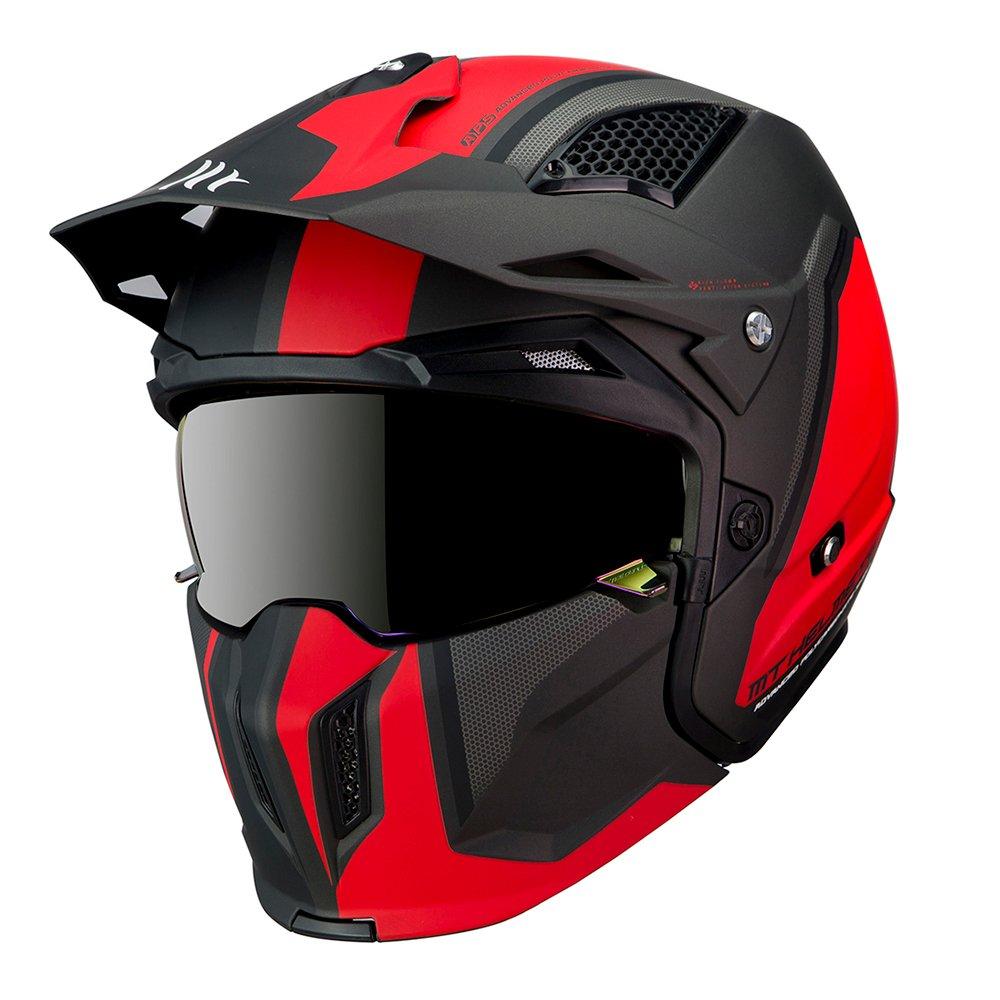 Streetfighter Twin Helmet Matt Black Red Motorcycle Helmets