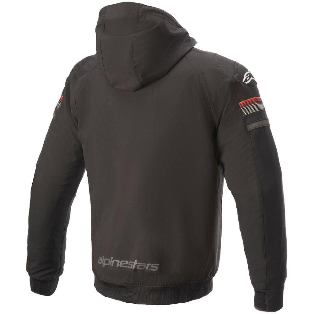 Alpinestars Sektor V2 Tech Hoodie Black Bright Red Size: Mens UK - S