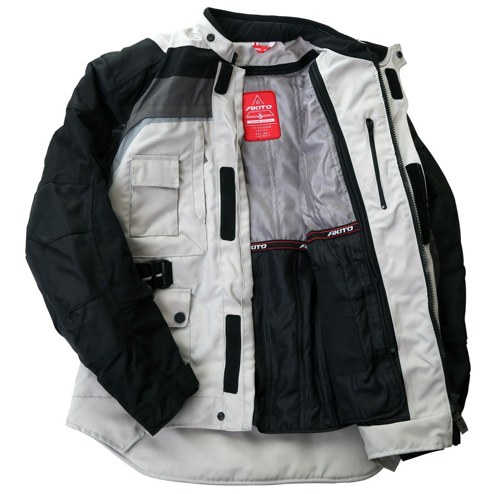 Akito Typhoon Jacket Black Grey Stone Size: Mens UK - M