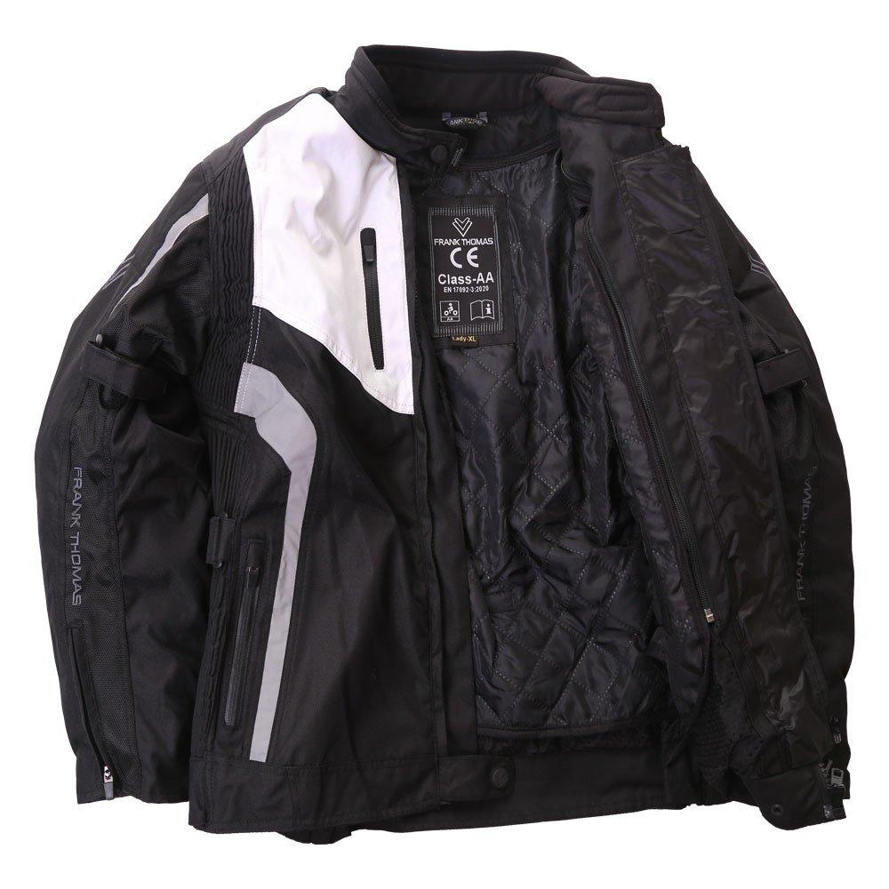 Frank Thomas Gem Ladies Jacket Black White Silver Size: Ladies UK - XS