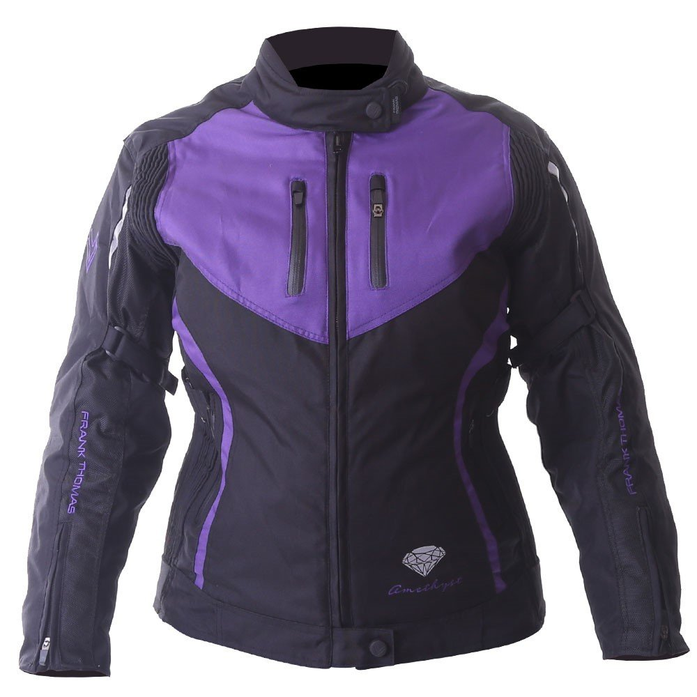Gem Ladies Jacket Black Purple Silver