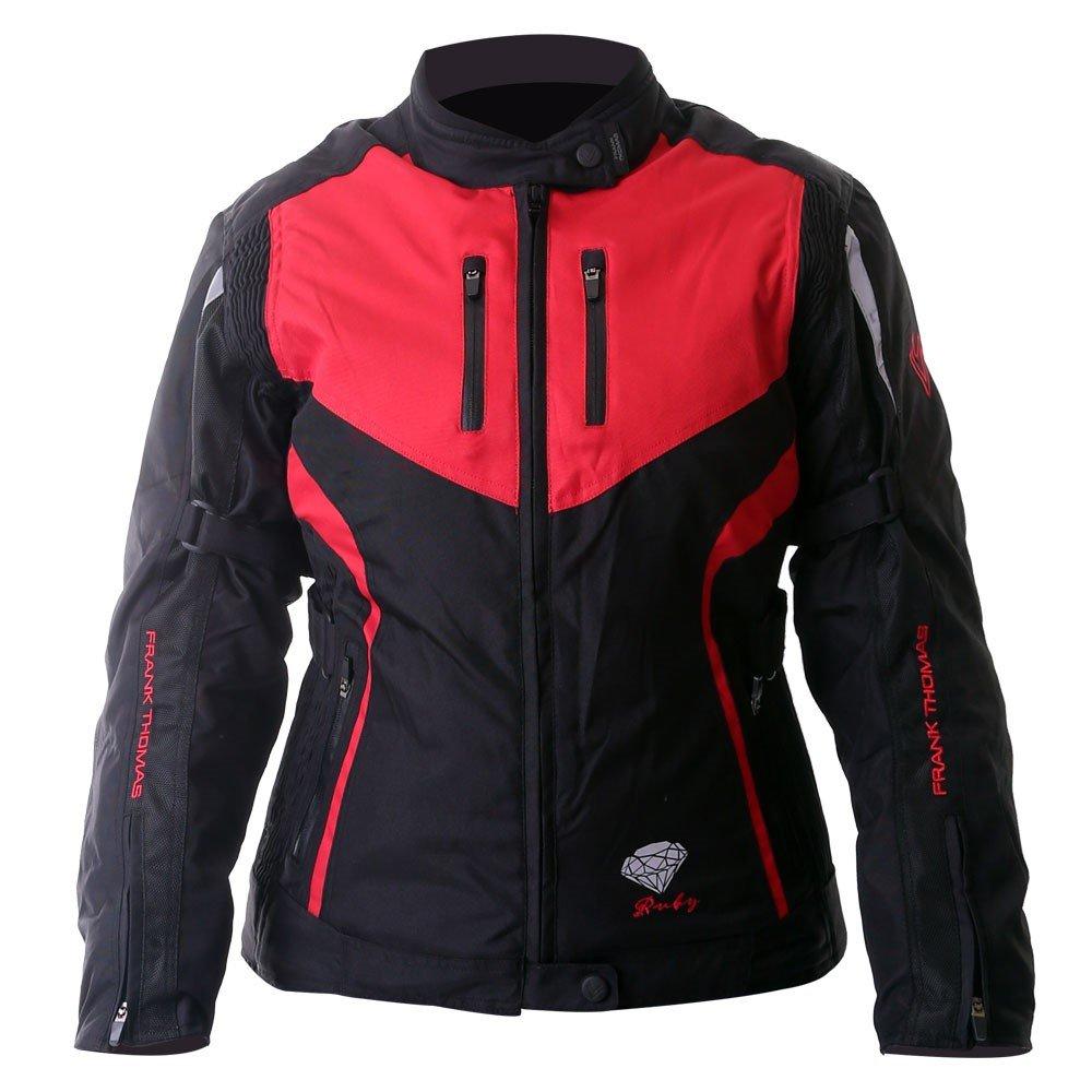 Gem Ladies Jacket Black Red Silver