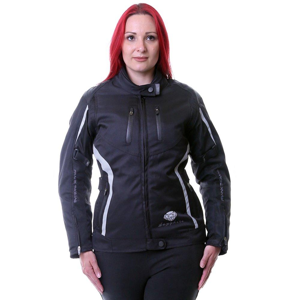 Frank Thomas Gem Ladies Jacket Black Black Silver Size: Ladies UK - XS