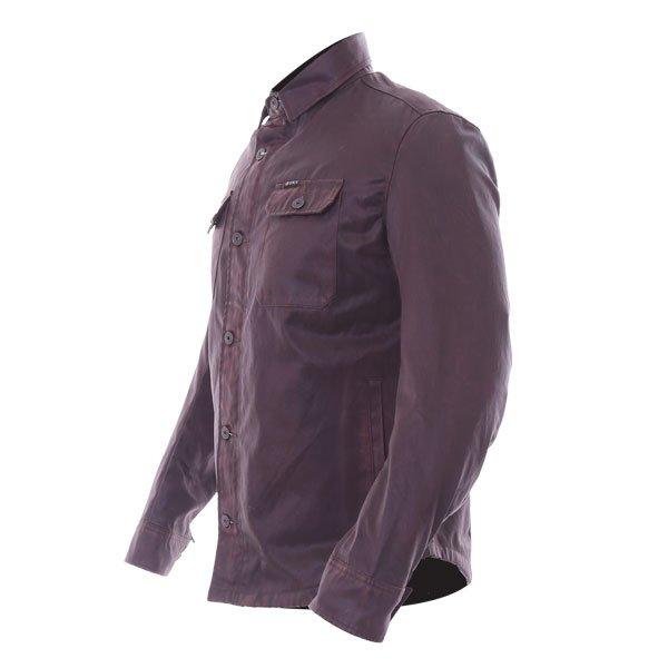 BKS Wax Brown Kevlar Motorcycle Shirt Side