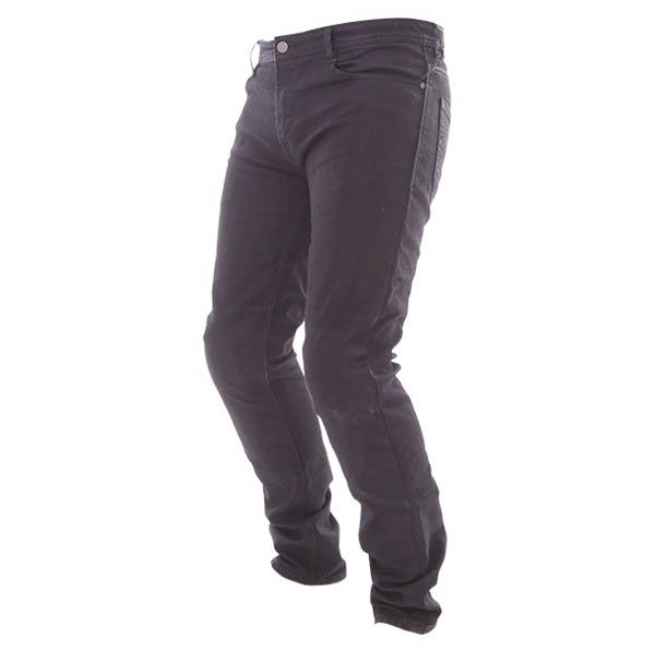 Alpinestars Double Bass Greaser Black Denim Kevlar Motorcycle Jeans Riding crouch