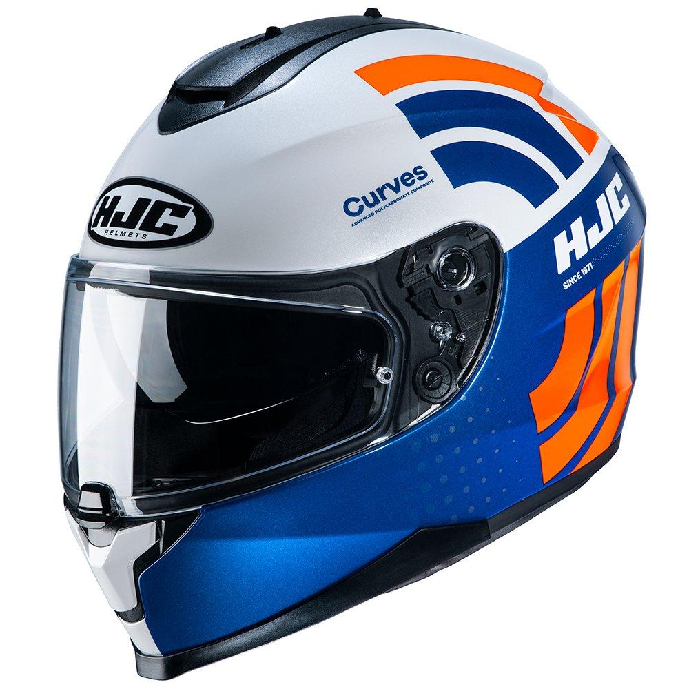 C70 Curves Helmet White Red Blue